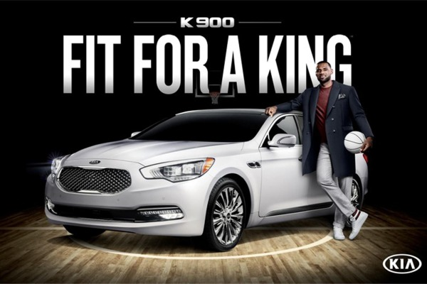 "LeBron James Says New Kia K900 is ""Fit for a King"""
