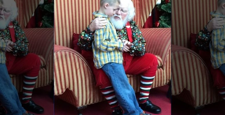 Mall Santa offers simple, yet touching message to autistic boy